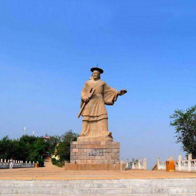 大禹石雕像