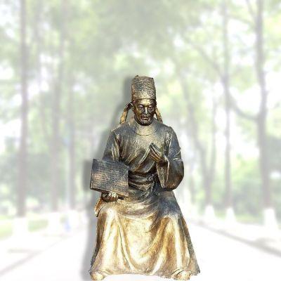 毕升仿铜雕像