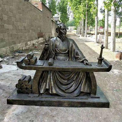 仿铜名人张衡雕塑