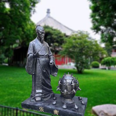 张衡仿铜雕塑