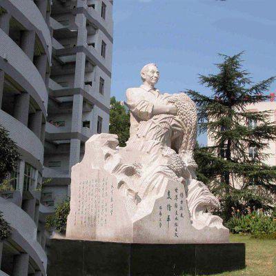袁隆平汉白玉石雕像