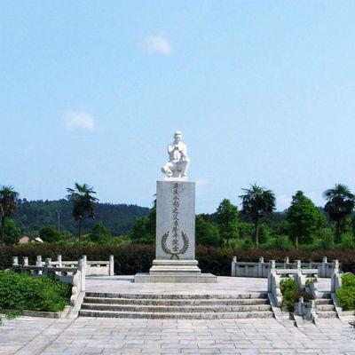 杂交水稻之父袁隆平石雕塑像