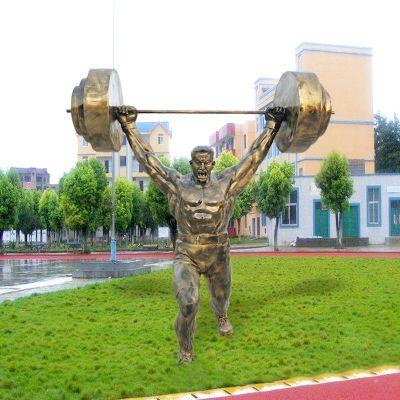 举重人物仿铜雕塑