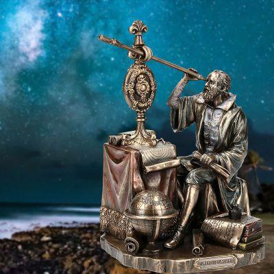 伽利略情景铜雕