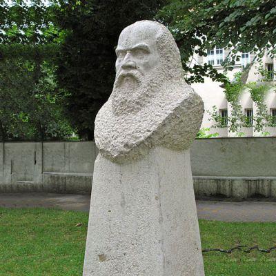 伽利略石雕头像