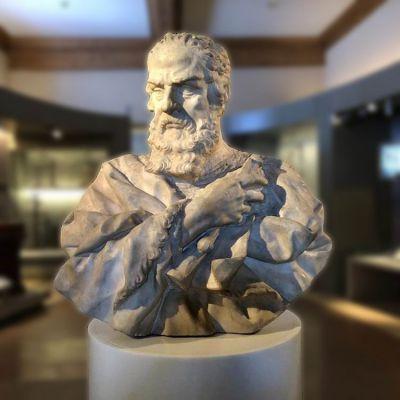 伽利略头像石雕雕塑