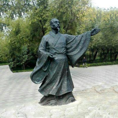 荀子铜雕像