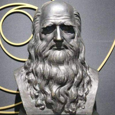 达芬奇铜雕头像