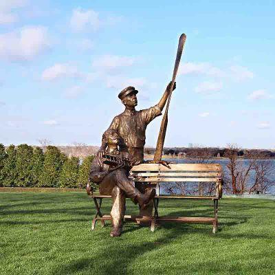 莱特兄弟景观铜雕