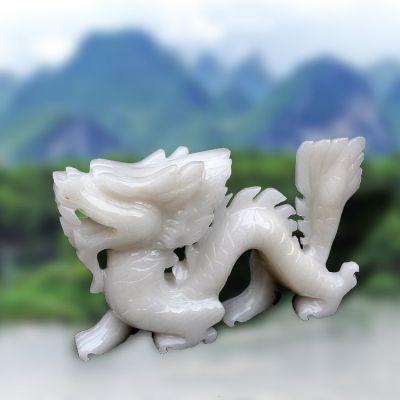 汉白玉龙雕塑
