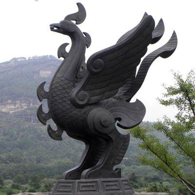 抽象凤凰铜雕