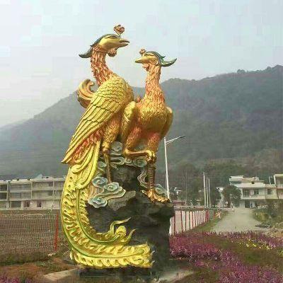 凤凰景观铜雕塑