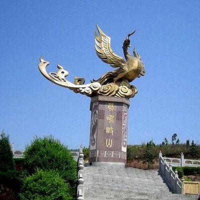 景观凤凰铜雕