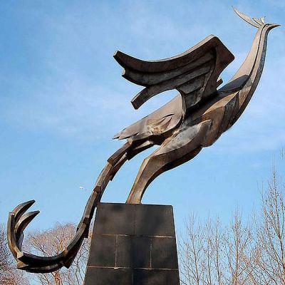 铜雕凤凰景观雕塑