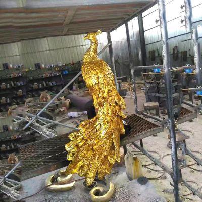 鎏金凤凰铜雕