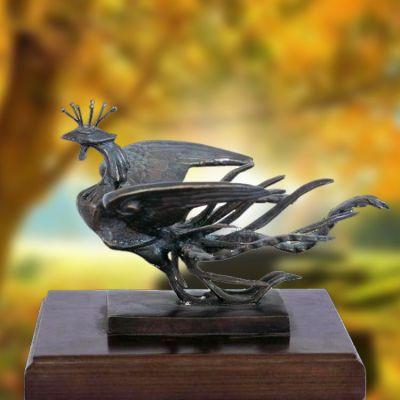 铸铜凤凰雕塑