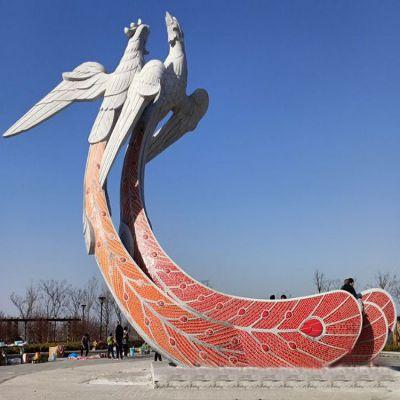 大型凤凰石雕景观