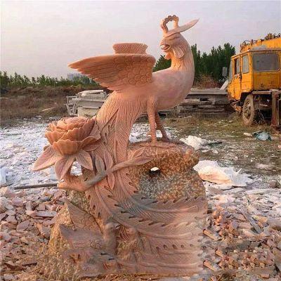 凤凰牡丹石雕