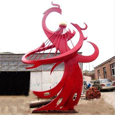 不锈钢凤凰景观雕塑