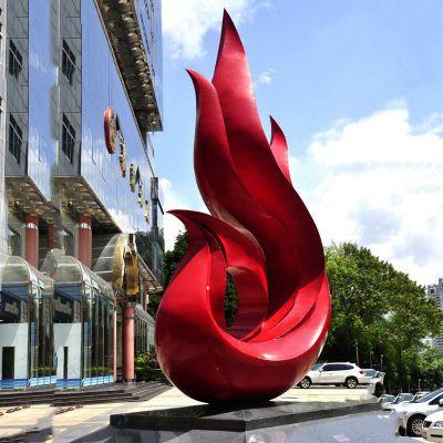抽象不锈钢凤凰雕塑