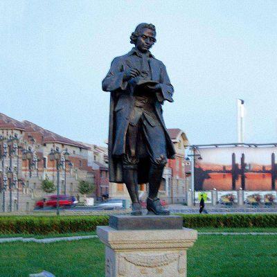 巴赫铜雕像