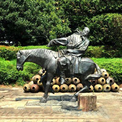贺知章铜雕景观小品雕塑