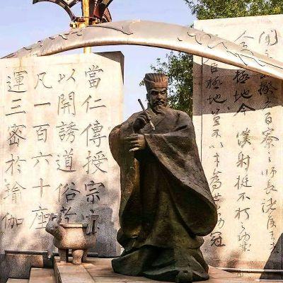 柳公权铜雕塑像