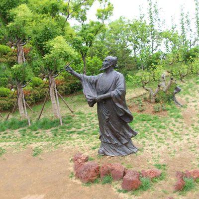 吴道子铜雕塑