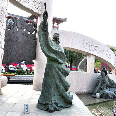 吴道子铜雕像仿古