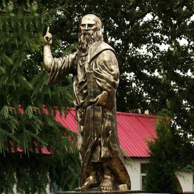 柏拉图玻璃钢仿铜雕像