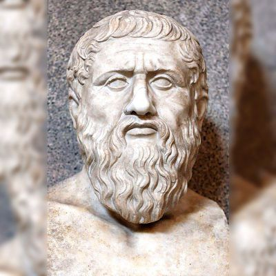 柏拉图大理石头像雕塑