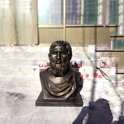 柏拉图仿铜头像