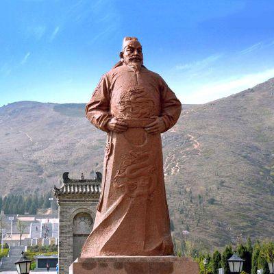 唐太宗李世民砂岩石雕塑像