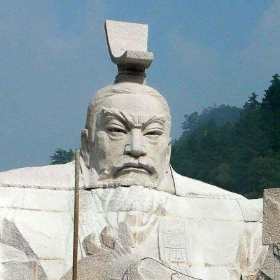 大型汉武帝刘彻石雕头像