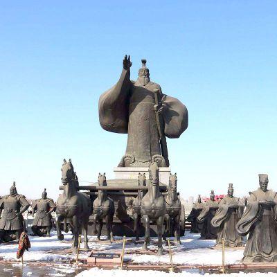 汉武帝刘彻大型情景景观雕塑