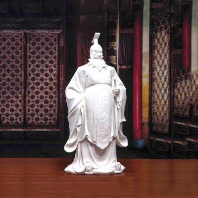 汉武帝刘彻汉白玉石雕像