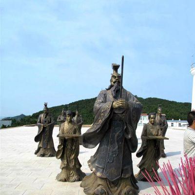 汉武帝刘彻祭天情景雕塑