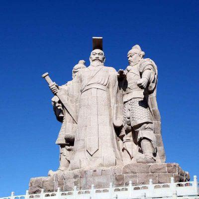 汉武帝刘彻石雕景观雕塑