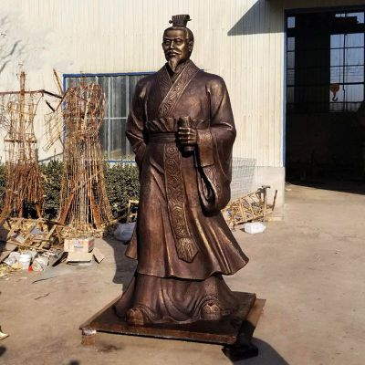 汉武帝刘彻铜雕塑像