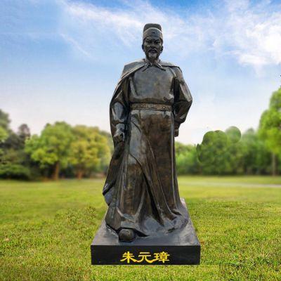 朱元璋玻璃钢仿铜雕塑