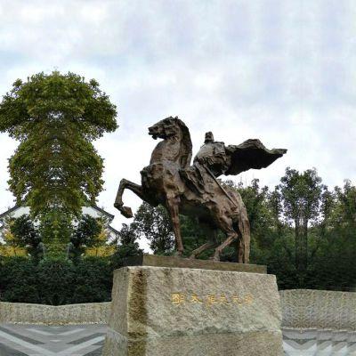 朱元璋骑马铜雕景观雕塑