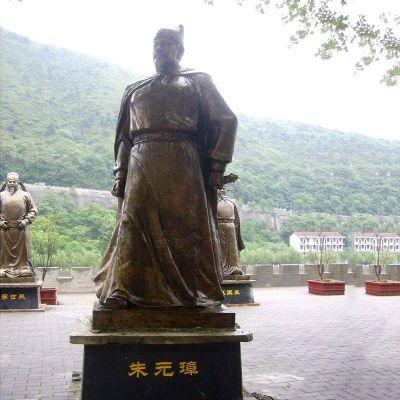 朱元璋铜雕塑像