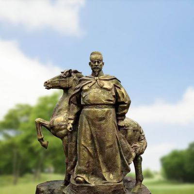 朱元璋铸铜雕塑
