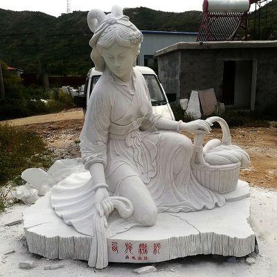 汉白玉西施雕塑