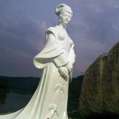 汉白玉西施石雕像