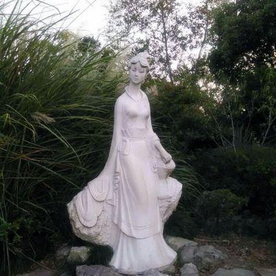 西施汉白玉石雕像