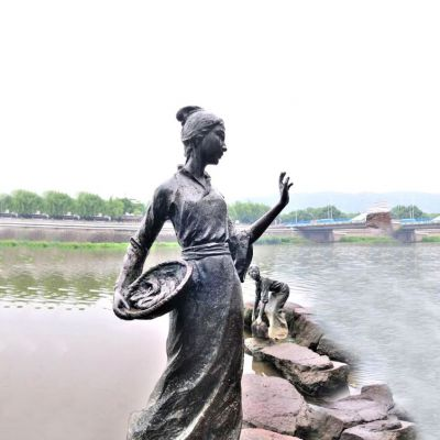 西施铜雕塑