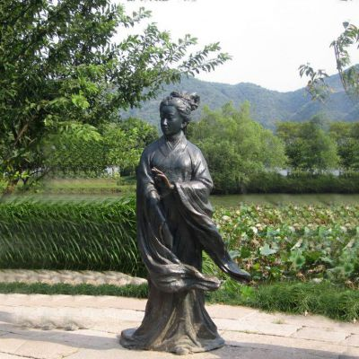 西施铜雕塑像