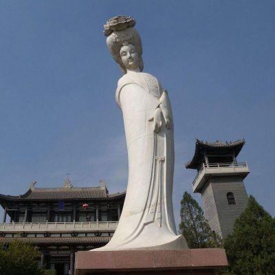 汉白玉贵妃石雕像