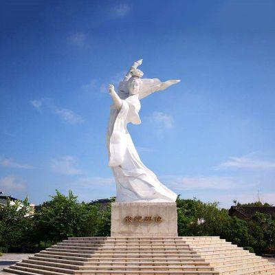 杨贵妃汉白玉石雕塑像